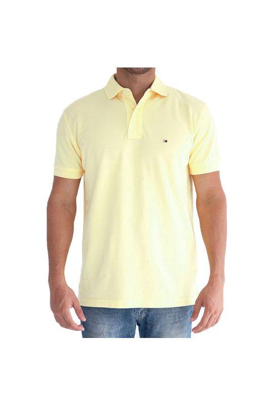1e38b776d Camisa Polo Tommy Custom Fit Amarela