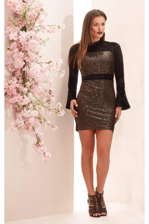 e71e9a51d Vestido Justo Cityblue Preto - Carmim Modas