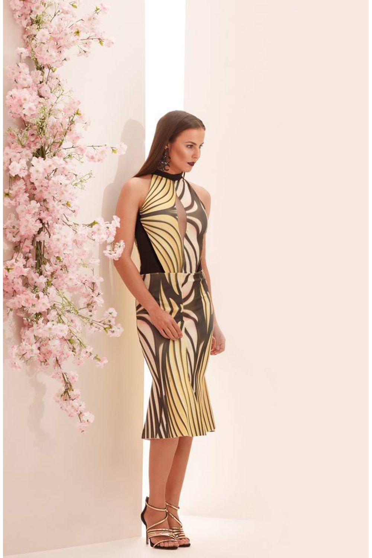2c52ee702 Vestido Sereia Cityblue Estampado - Carmim Modas