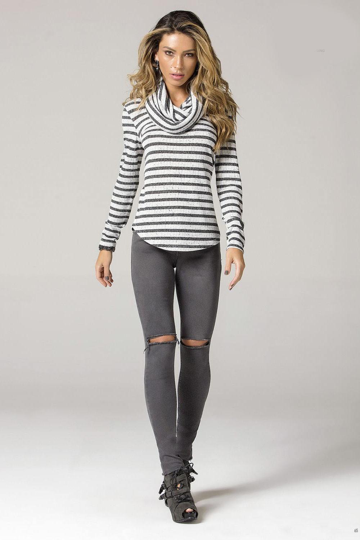 2402e39dd Calça Jeans Lado Avesso Curve Jegging - Carmim Modas