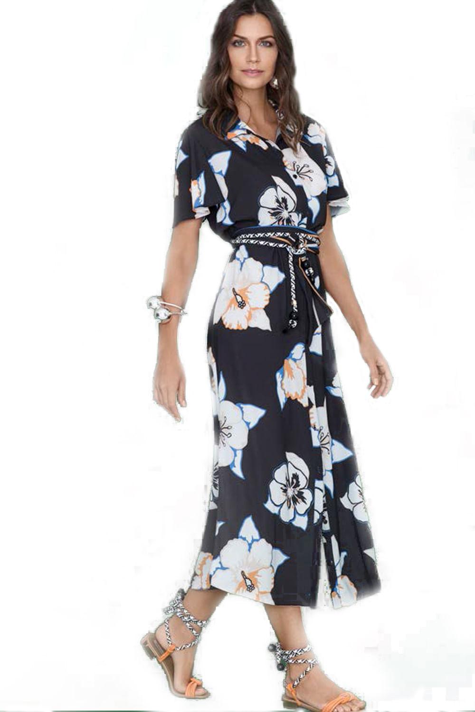 b244d8a1e Vestido Maria Valentina Estampado - Carmim Modas