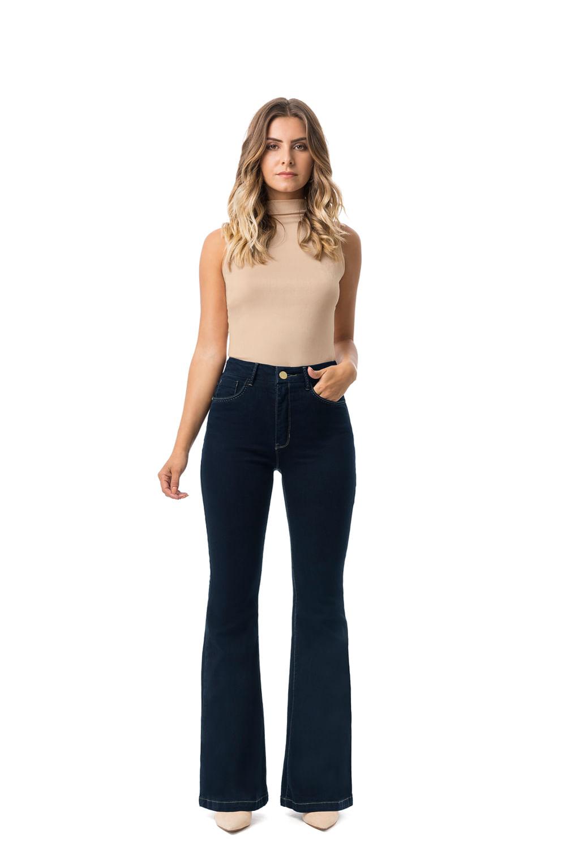1c791a8b45 Calça Jeans Lunender Flare Cintura Alta Azul - Carmim Modas