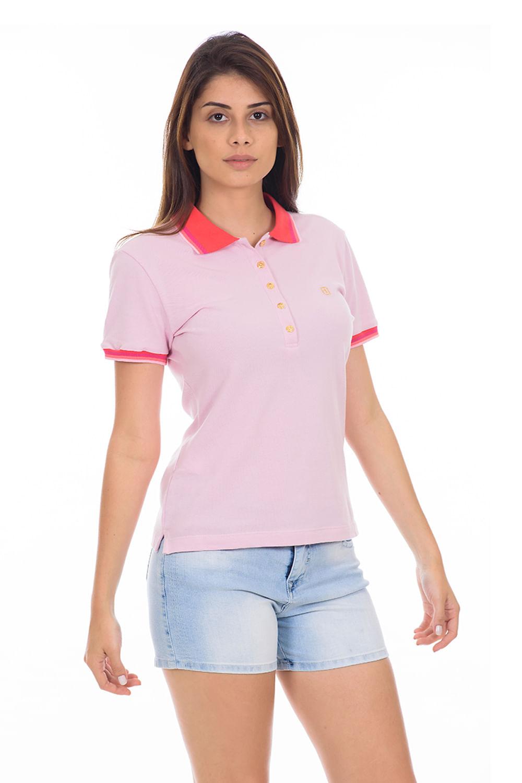 4078a335ac Camisa Polo Presidium New Confort Rosa - Carmim Modas