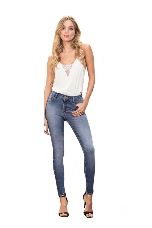 41a13f5a5 Calça Jeans Lado Avesso Essentials Azul - Carmim Modas