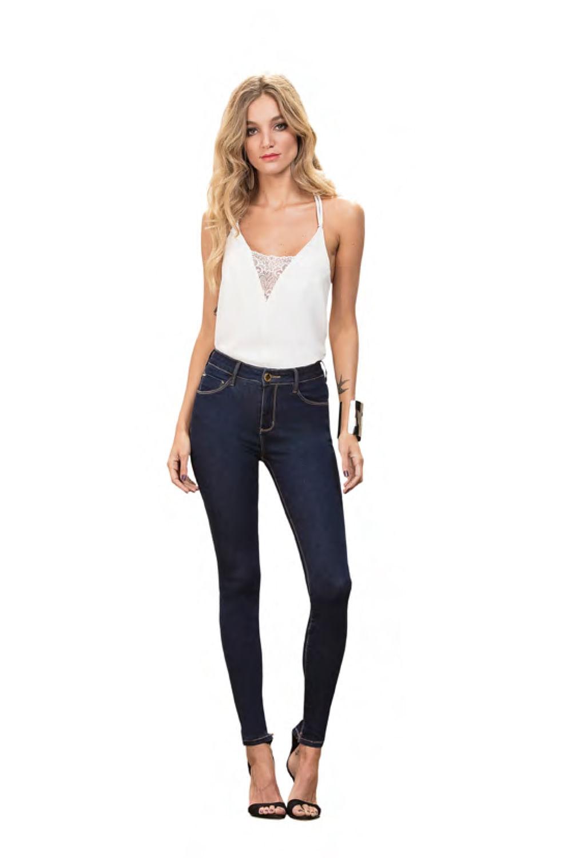363b3b98e Calça Jeans Lado Avesso Slim Essentials Azul - Carmim Modas