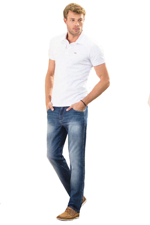 5b6a56f90 Calça Jeans Lado Avesso Slim Azul - Carmim Modas