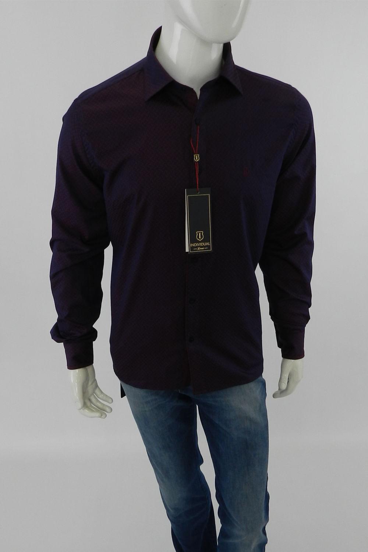 Camisa Individual Slim Fit Manga Longa Roxa - Carmim Modas 80b8e76874aa2