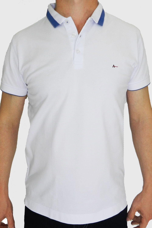 9bac1f2f2 Camisa Polo Aramis Slim Básica Branca - Carmim Modas