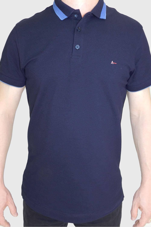 4e95ce690 Camisa Polo Aramis Slim Básica Azul - Carmim Modas