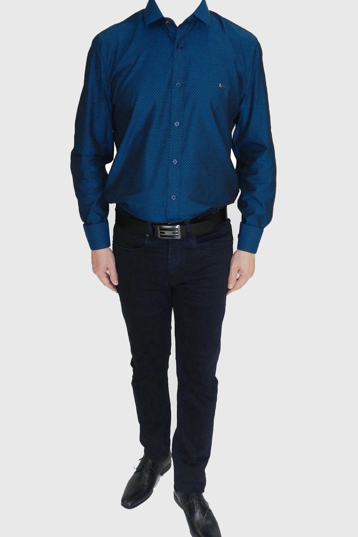 ebab2b0181aa5 Camisa Aramis Snight Azul - Carmim Modas