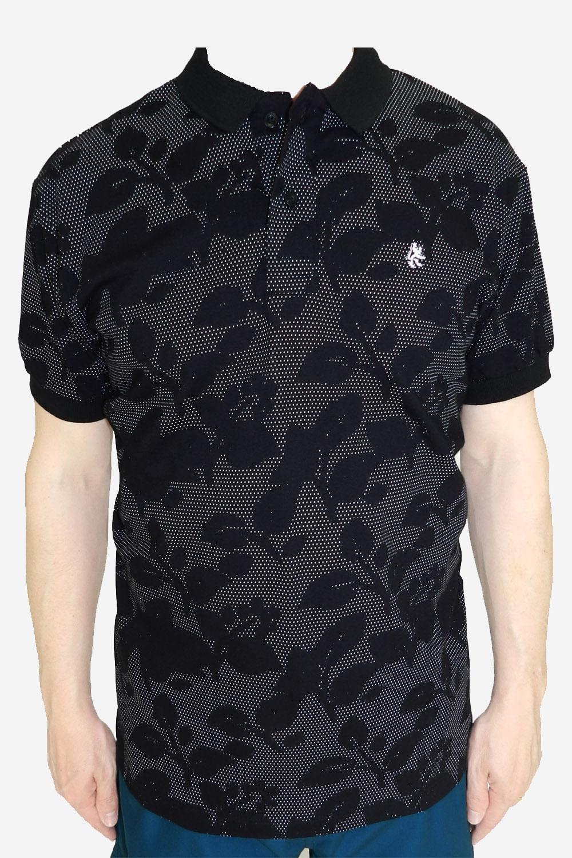 9c7b324cb13 Camisa Polo Paco Folhas Preta - Carmim Modas