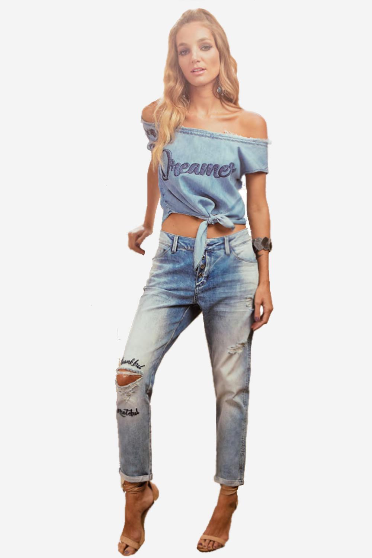 caeee19b0 Blusa Lado Avesso Jeans - Carmim Modas