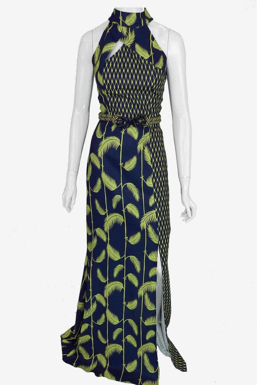 e3b4c54be Vestido Maria Valentina Longo Azul - Carmim Modas