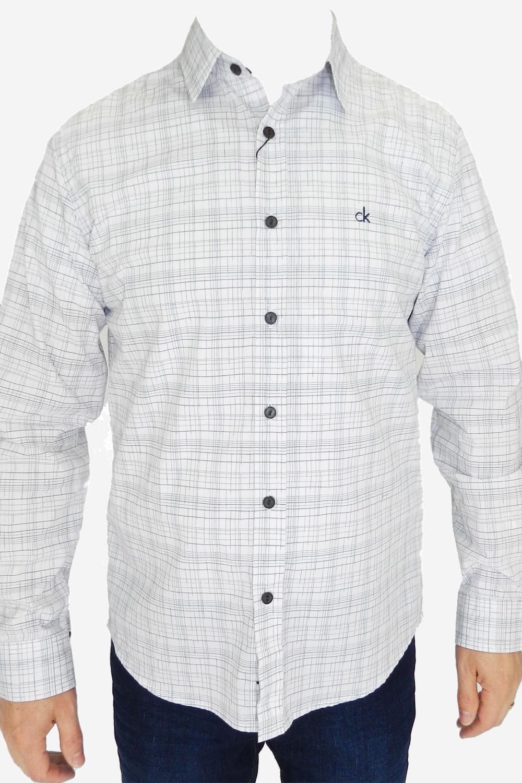 c982d1dab817a Camisa Calvin Klein Slim Branca - Carmim Modas