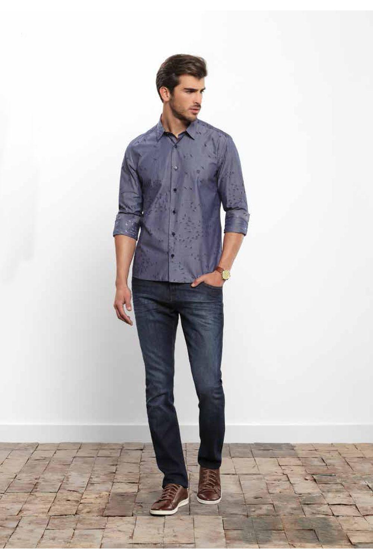 1b9b06835c856 Calça Individual Jeans Super Slim Azul - Carmim Modas