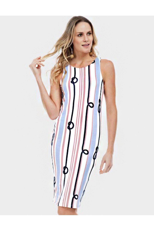 341a7266d Vestido Lunender Malha Rosa - Carmim Modas