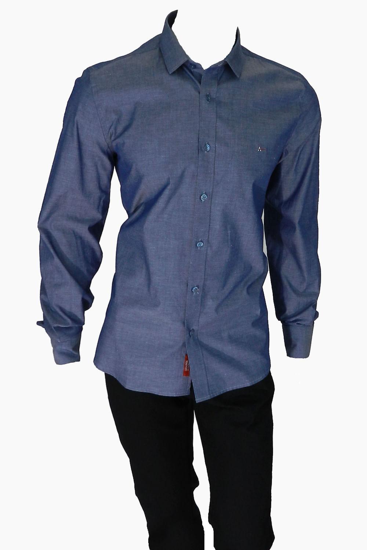 8b88b91db307e Camisa Aramis Super Slim MW Azul Escuro - Carmim Modas