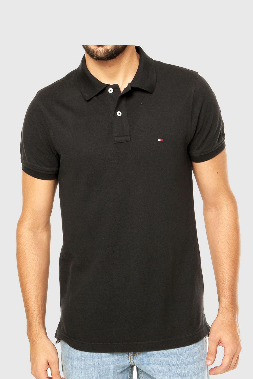 d8ff909d1e Camisa Polo Tommy Custom Fit Preta - Carmim Modas