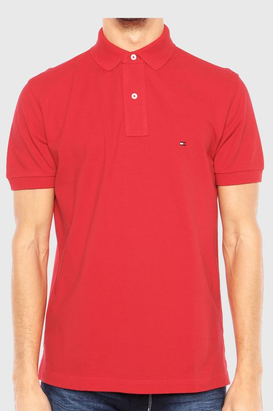 78095166f Camisa Polo Tommy Custom Fit Vermelha - Carmim Modas