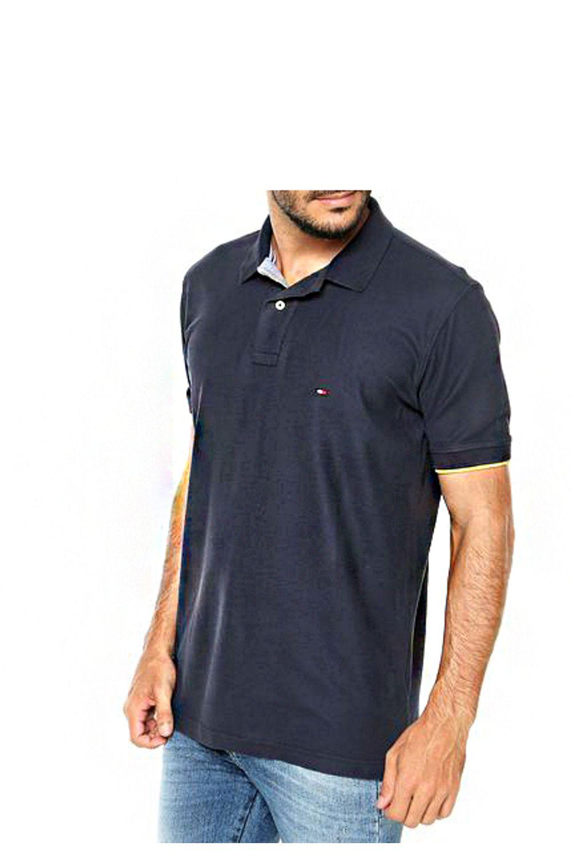 d9e847b5f Camisa Polo Tommy Custom Fit Azul Marinho - Carmim Modas