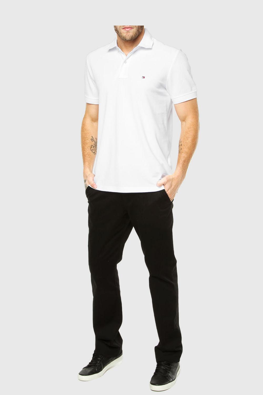 f746c92d81 Camisa Polo Tommy Custom Fit Branca - Carmim Modas