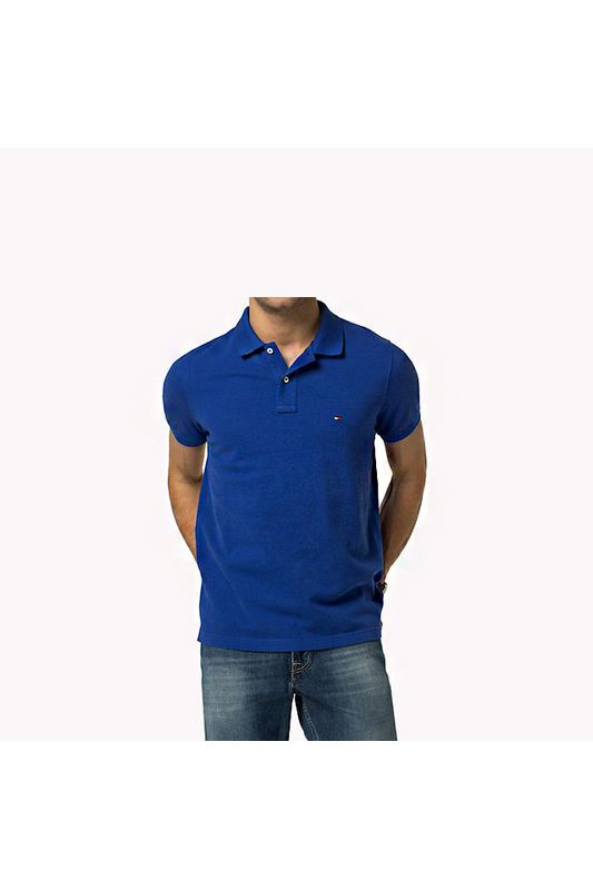 5427f9d495 Camisa Polo Tommy Custom Fit Azul Royal - Carmim Modas