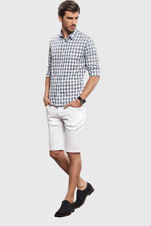 Camisa Individual Slim Fit Xadrez Cinza - Carmim Modas 7bebd5e1617cb