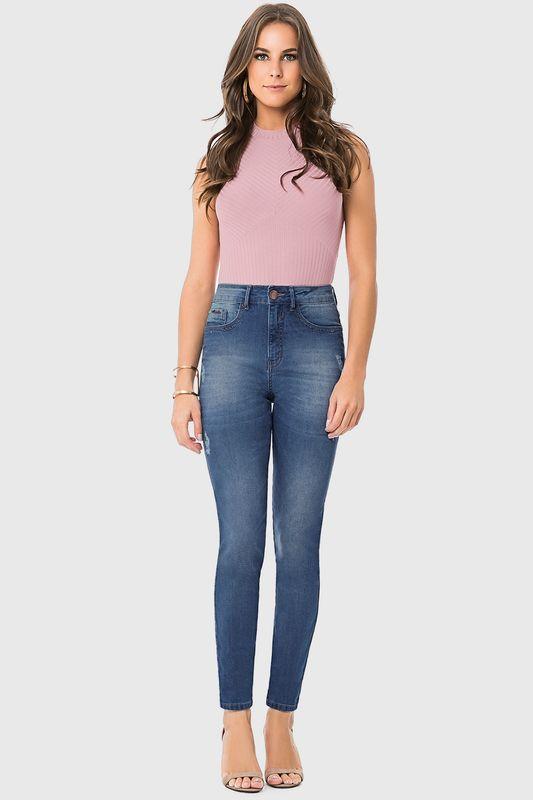 28b76a932 Calça Jeans Lunender Skinny Média Azul - Carmim Modas
