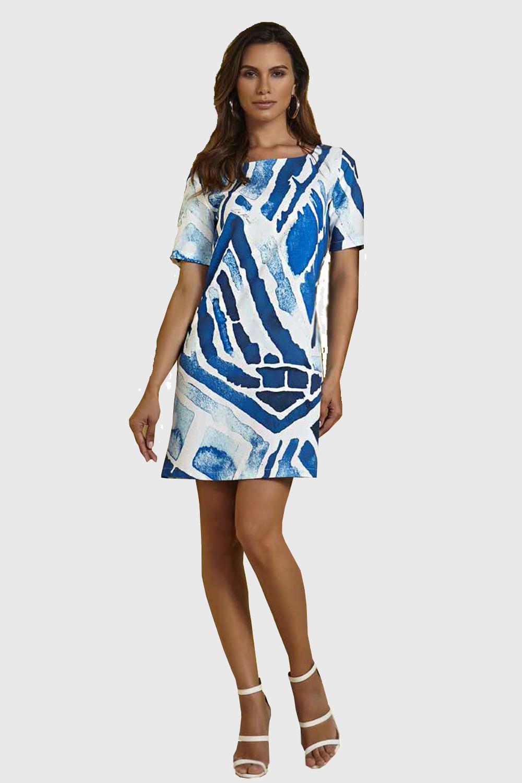 e3e25b9ef3 Vestido La Rossi Grafico Azul - Carmim Modas