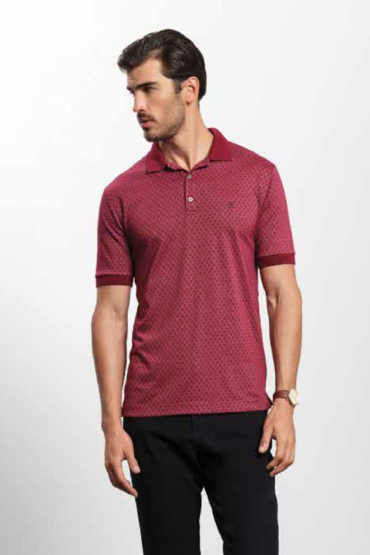 Camisa Polo Individual Comfort Fit Vinho - Carmim Modas 59842455b14a0