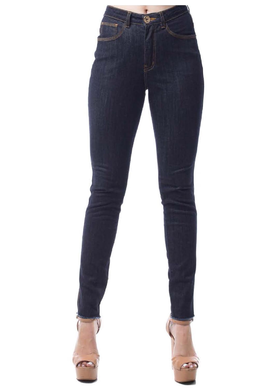 42387ba66 Calça Eventual Jeans Cigarrete Azul - Carmim Modas