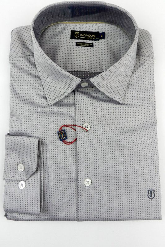 Camisa Individual Comfort Fit High Quality Cinza
