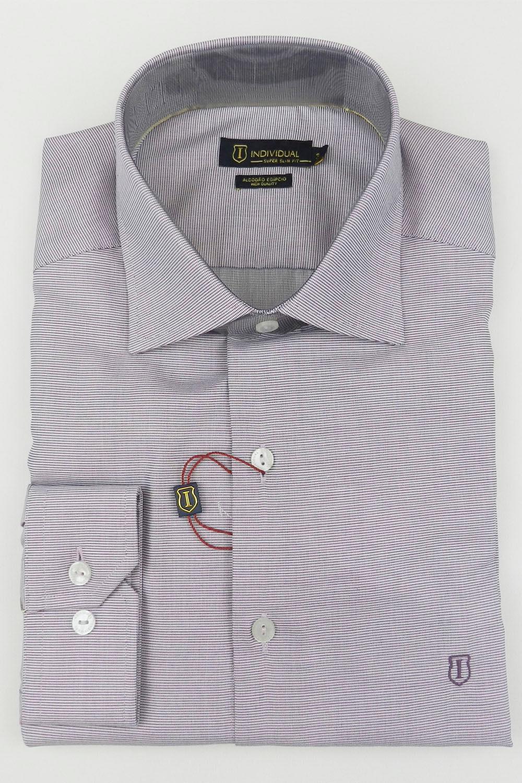 Camisa Individual Super Slim Fit Lilas - Carmim Modas 41961cced674e