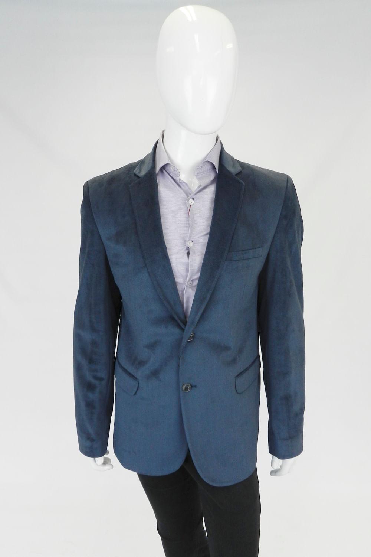 a9d2fd8344 Blazer Delucca Slim Veludo Azul - Carmim Modas