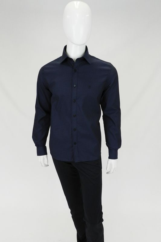Camisa Individual Slim Premium Azul