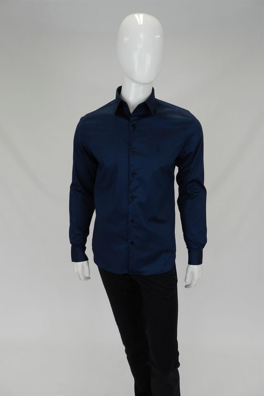 6b715ddda8f39 Camisa Individual Super Slim Fit Azul - Carmim Modas