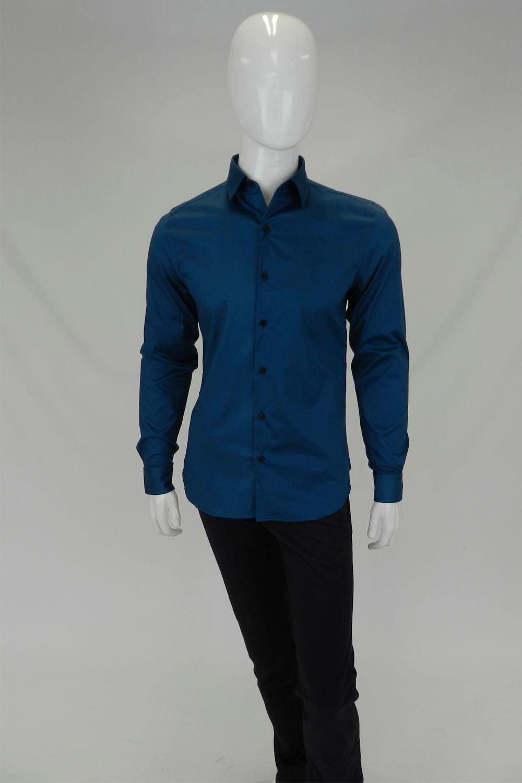 Camisa Individual Super Slim Fit Azul Petroleo - Carmim Modas f038d23be1e50
