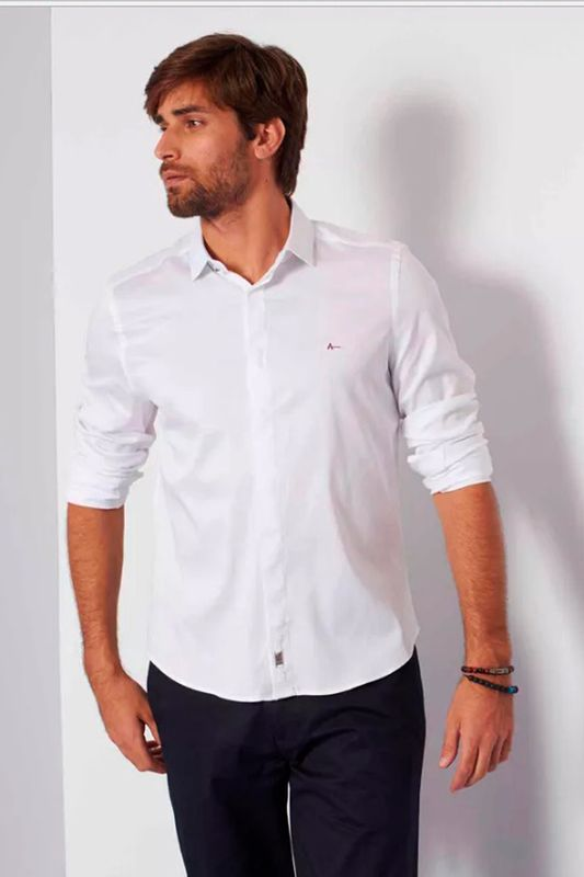 575a9b13081bfa Camisa Aramis Super Slim MW Strech Branco - Carmim Modas
