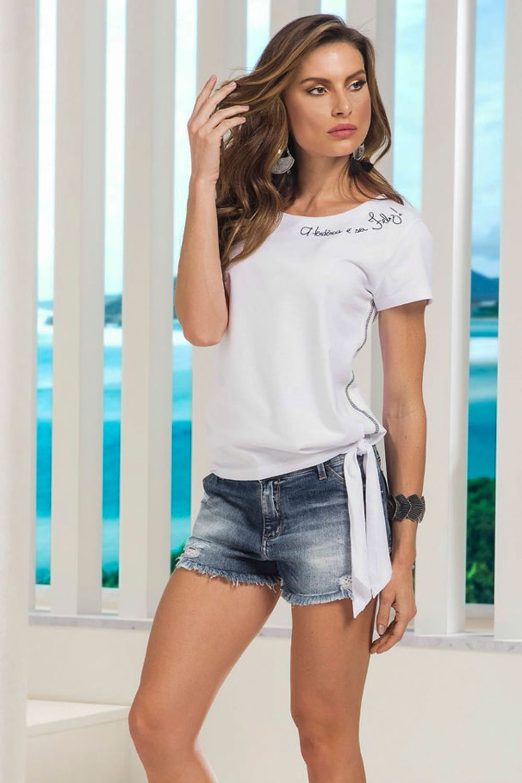 19d3a55c9 Shorts Lado Avesso Relax Jeans Azul - Carmim Modas
