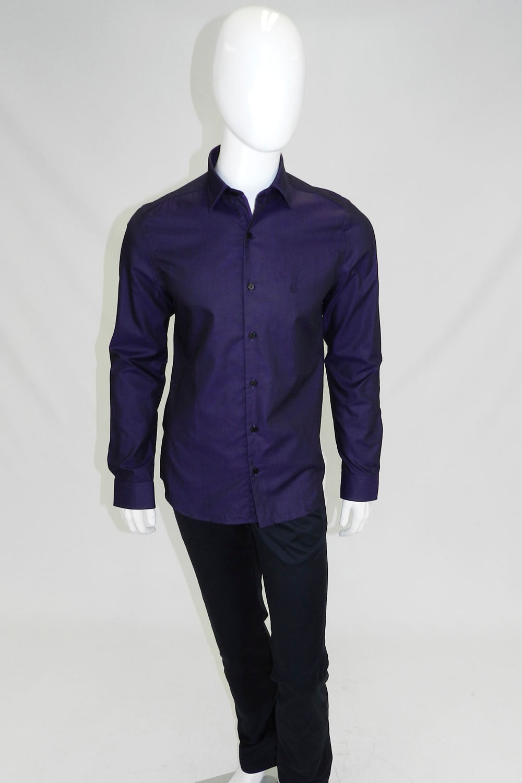 Camisa Individual Super Slim Fit Roxo - Carmim Modas 34156ffb62117