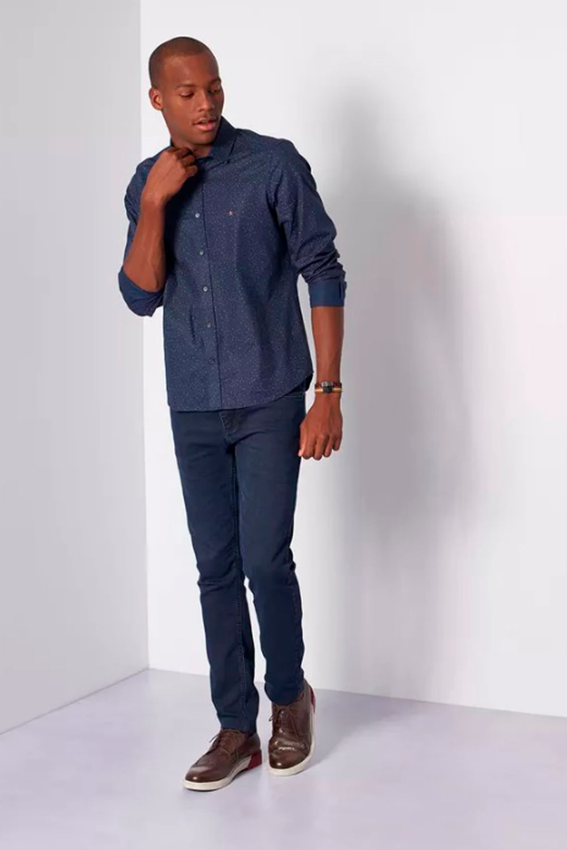 0770263c1ddb2 Camisa Aramis Super Slim Menswear Traços Azul - Carmim Modas