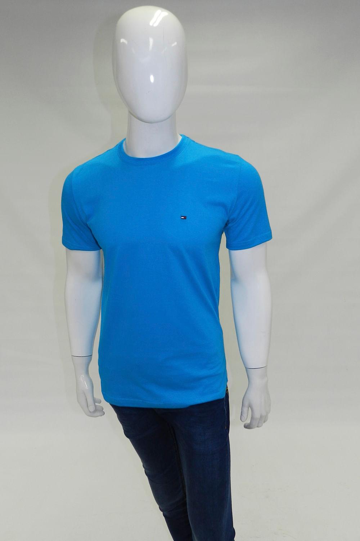 Camiseta Tommy Hilfiger Gola Redonda Azul Turqueza - Carmim Modas 3a8eaeacf184d