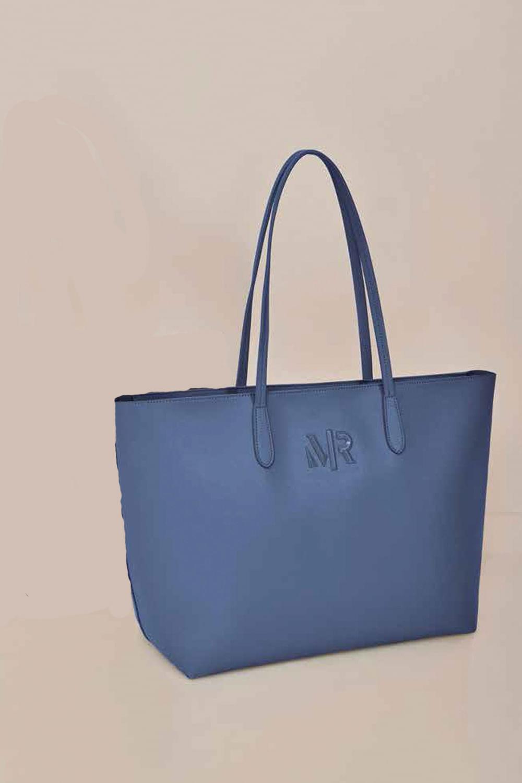 Bolsa Morena Rosa Shopping Azul - Carmim Modas 5a36f7ef51