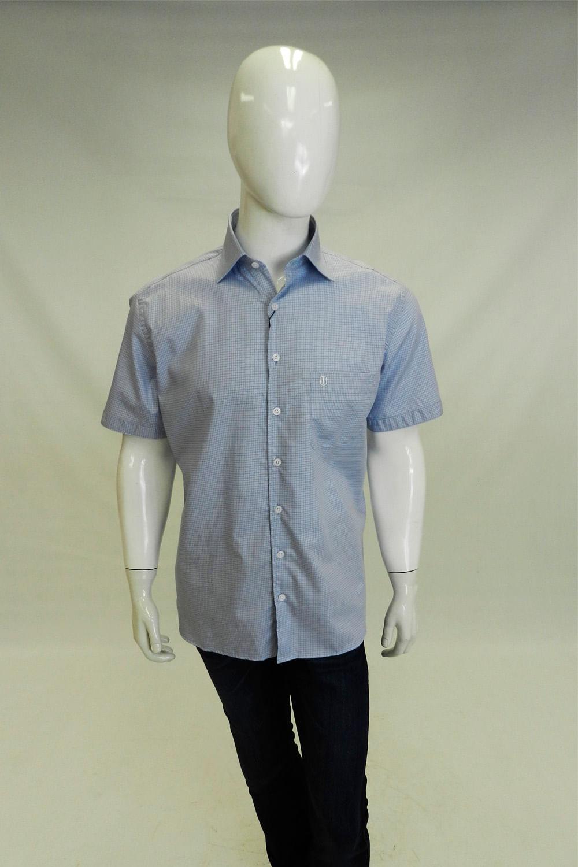 Camisa Individual Comfort Manga Curta Azul Claro - Carmim Modas 20c5f15590b26