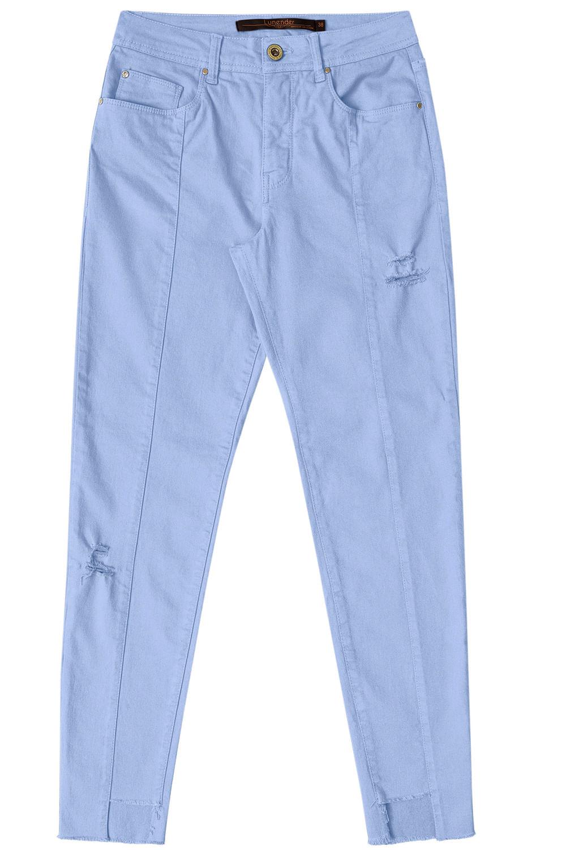 b06497736 Calça Jeans Lunender Cropped Chapa Barriga Azul Cerulean - Carmim Modas