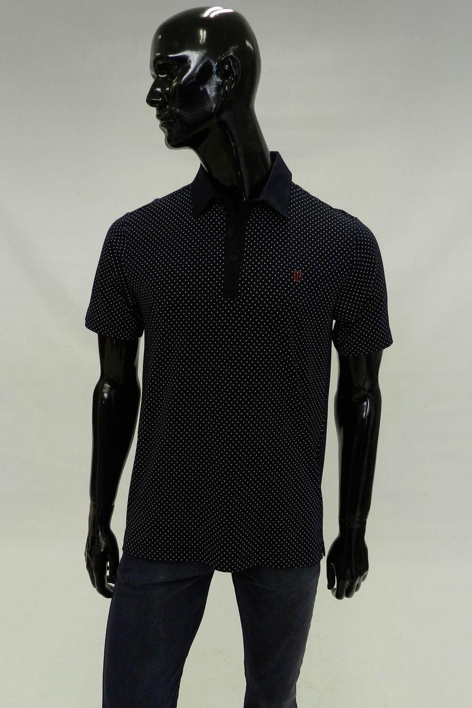 091f320a21 Camisa Polo Individual Comfort Azul Poá - Carmim Modas