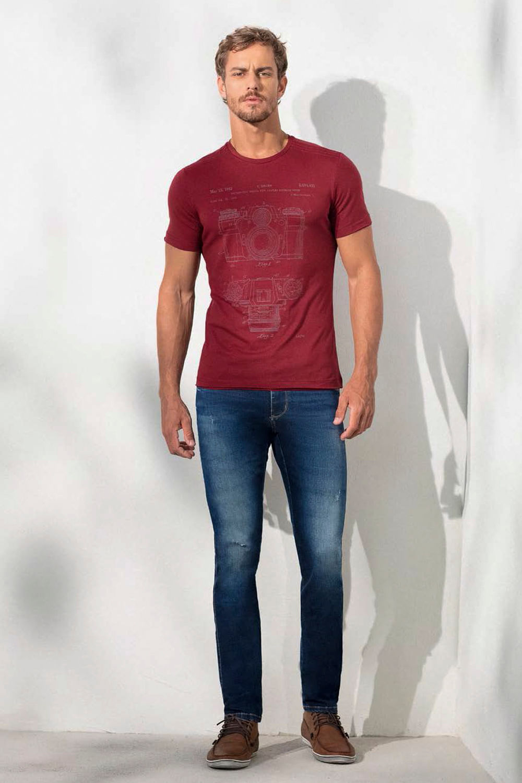 ec612be9c Calça Jeans Lado Avesso Marcello Azul - Carmim Modas
