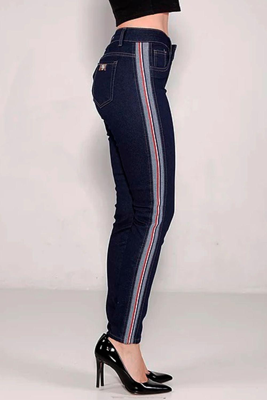 81e84c061 Calça Jeans Max Denim Faixa Lateral Azul - Carmim Modas