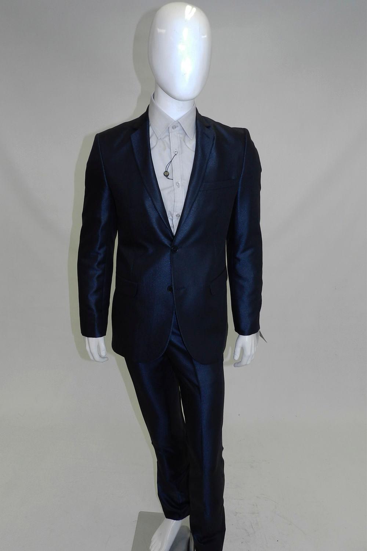 90c8d88ee737f Terno Delucca Super Slim Azul - Carmim Modas
