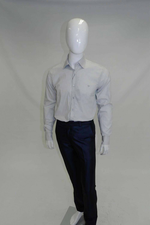 af7b2af281f04 Camisa Slim Delucca Cinza Claro - Carmim Modas